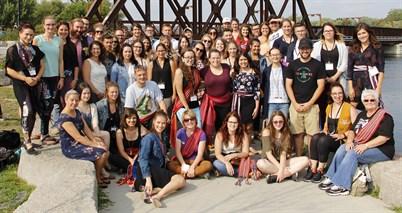 Group photo of Métis youth