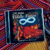 CD of '24 Métis Fiddle Tunes' on Métis sash