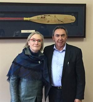 President Lipinski meets with Carolyn Bennett