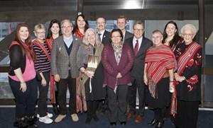 Participants at the 2015 Louis Riel Day celebration