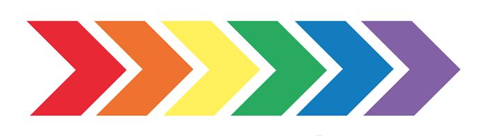 rainbow-chevrons