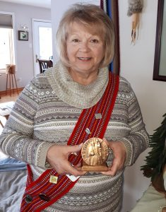 Photo of Verna with her award