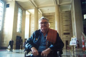Steve Powley at the Supreme Court of Canada in 2003