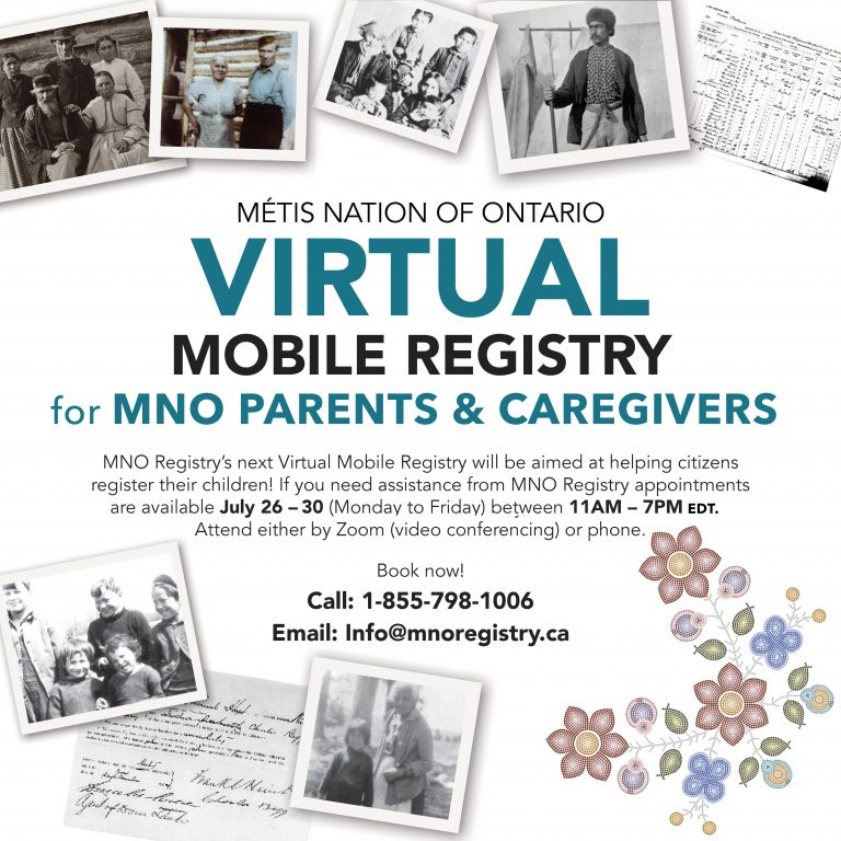 A poster for the Virtual Mobile Registry July 26-30