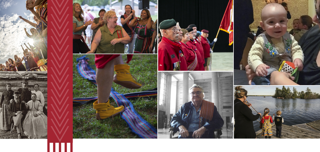 a collage of photos of Métis people in Ontario