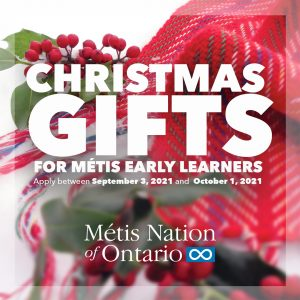 Christmas Gifts for Metis Youth: Apply between September 3 and October 1